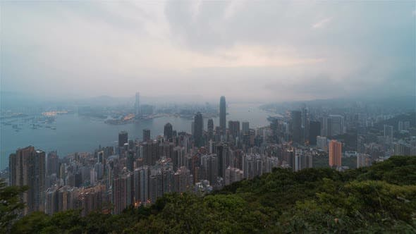 Thumbnail for Hong Kong, China | Sunrise over the bay of Hong Kong