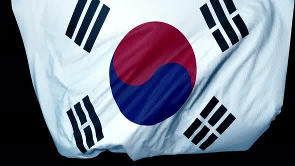Südkorea Entfaltung Flagge