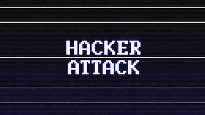 Hacker Attack Glitch Text