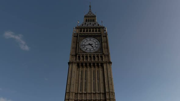 Thumbnail for Big Ben Seamless Loop With Alpha Matte