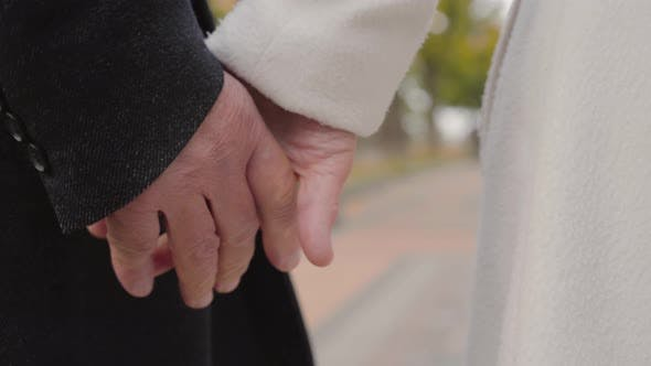 Thumbnail for Close-up of Mature Caucasian Hands Joining
