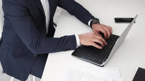 Finish Work Office Man Business Communication