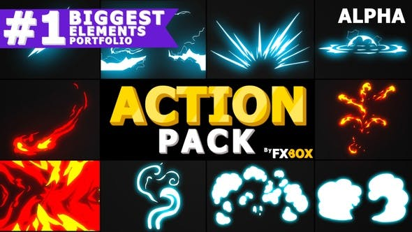 Thumbnail for Action Elements Pack | Motion Graphics Pack