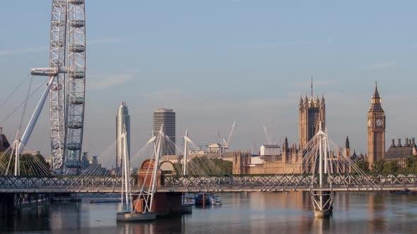 Thumbnail for timelapse london city skyline big ben parliament england urban