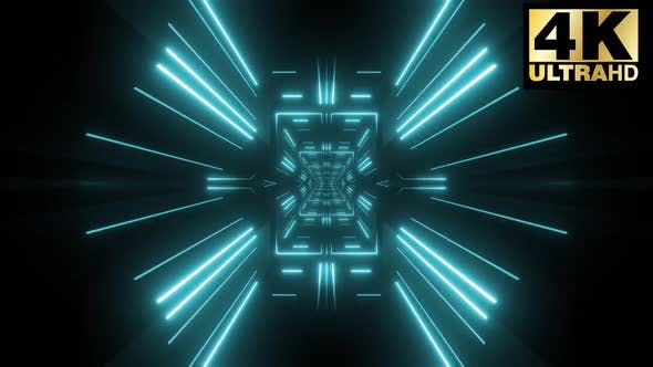 6 Colorful Neon Tunnel Vj Pack