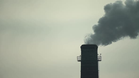 Thumbnail for Smoke Comes From the Chimney. Air Pollution. Slow Motion. Ecology. Kyiv. Ukraine