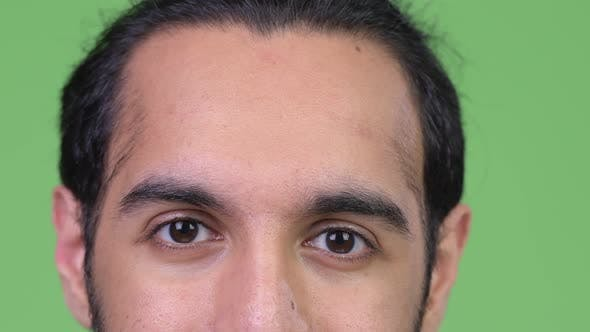 Thumbnail for Eyes of Young Happy Indian Man Smiling