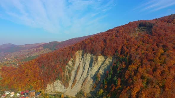 Cover Image for Aerial Drone Video Flying Over Carpathians Mountains in Yaremche City, Ukraine, Europe