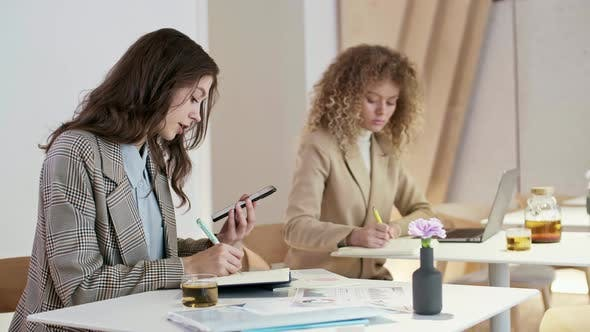 Thumbnail for Pair of Businesswomen Working in Modern Office