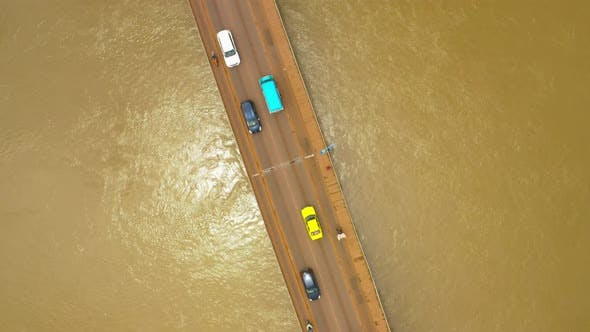 Thumbnail for Africa Mali River And Bridge Top View