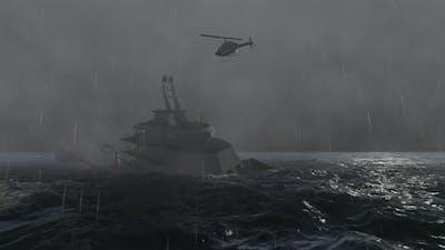 Boat Sinking 4k