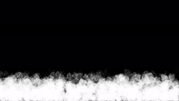 Smoke animation on black background