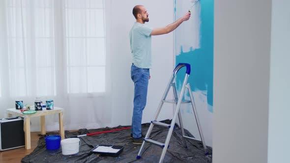 Handyman Painting Wall