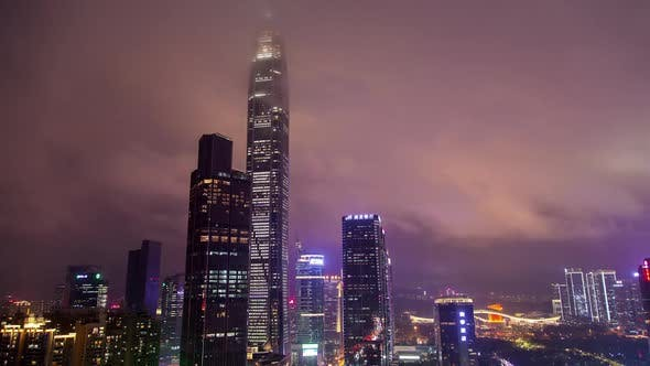 Cover Image for Timelapse Large Skyscrapers of Futian District in Shenzhen
