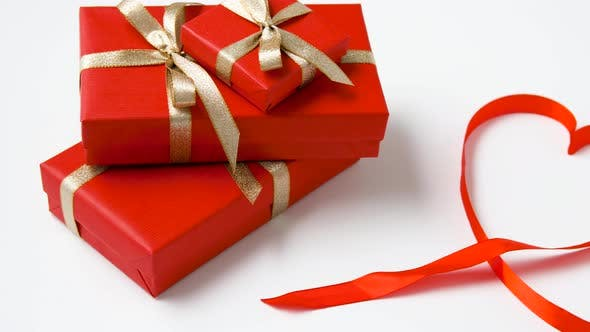 Thumbnail for Gifts Wrapped Into Red Paper for Valentines Day 21