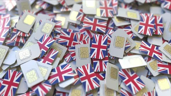 Thumbnail for Pile of SIM Cards with Flag of the United Kingdom