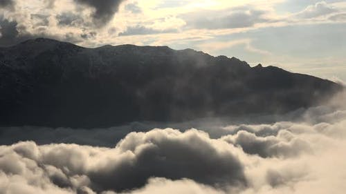 High Mountain Ambiance Above the Clouds in The Afternoon