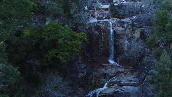 Thumbnail for People Enjoying Wonderfull Waterfall