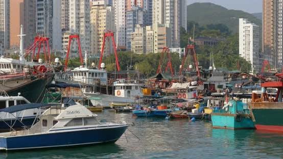 Thumbnail for Hong Kong Fishing Port Inside Typhoon Shelter