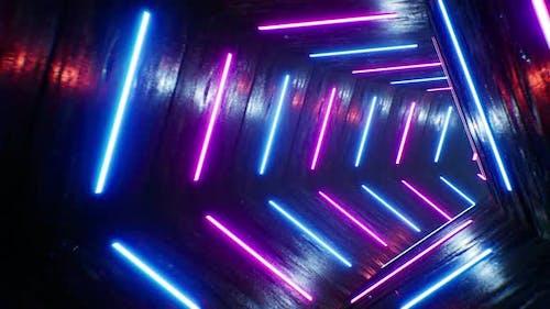 4K Pentagon VJ Neon Tunnel