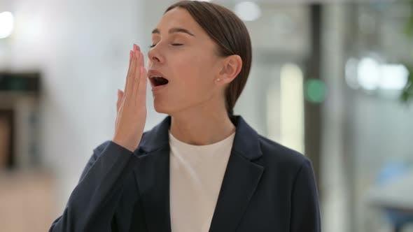 Thumbnail for Portrait of Sleepy Businesswoman Yawning