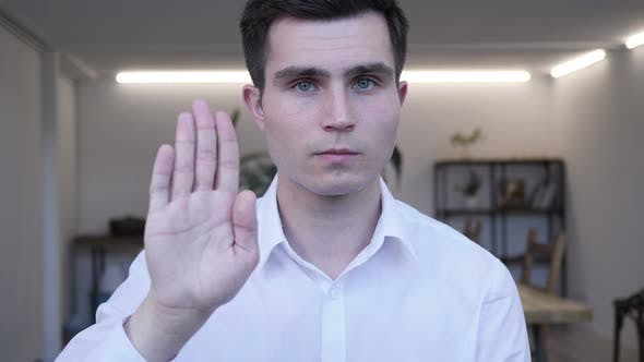 Thumbnail for Stop Gesture by Businessman, Denying and Rejecting