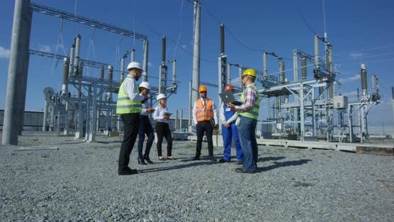 A Group of Electrical Workers