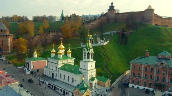 Thumbnail for A Church and a Kremlin in a Touristic Russian City
