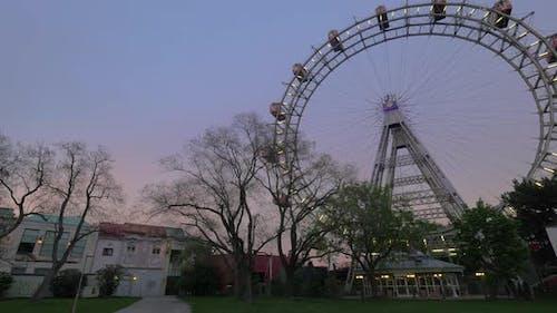 Giant Ferris Wheel in Vienna, Austria