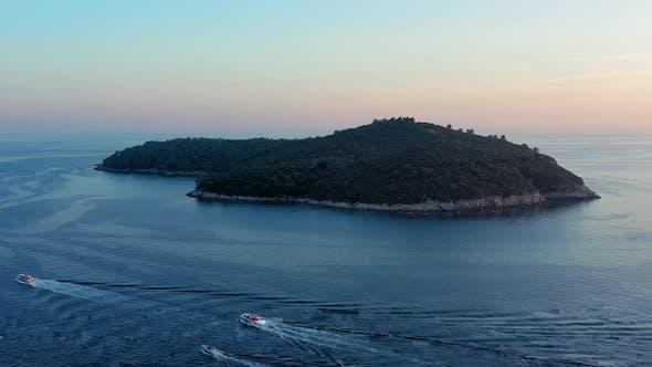 Thumbnail for Lokrum island at sunset
