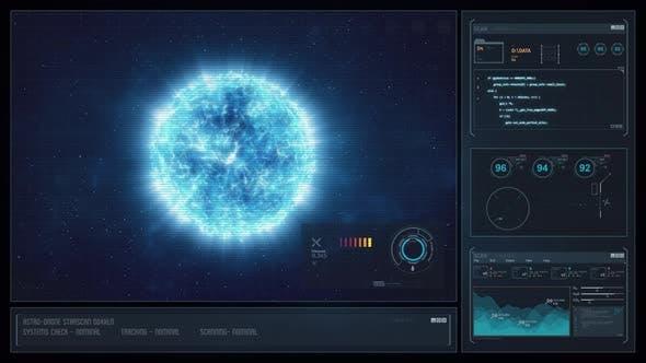 Digital Display Sci-Fi HUD - Blue Star