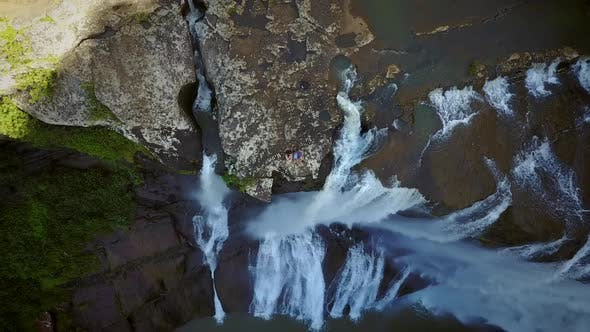 Thumbnail for Aerial view of Rochester Falls in Mauritius.
