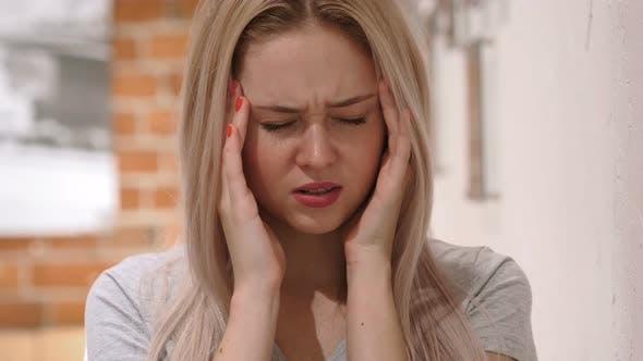 Thumbnail for Tense Woman with Headache, Pain in Head