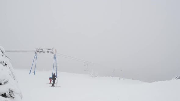 Thumbnail for People Near a Ski Lift, Speed Up