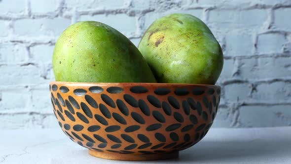 Thumbnail for Fresh Green Mango in a Bowl on Table