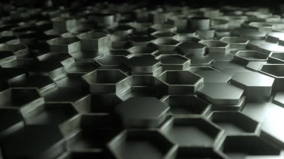 Metallic Hexagon Boxes Loopable