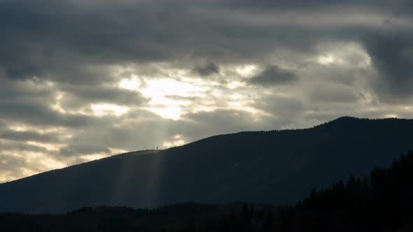 Thumbnail for Sunset Light over Mountains