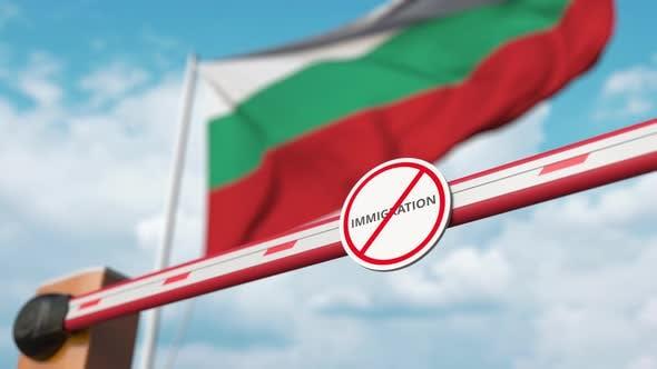 Thumbnail for Offenes Tor ohne Einwanderungszeichen auf der bulgarischen Flagge