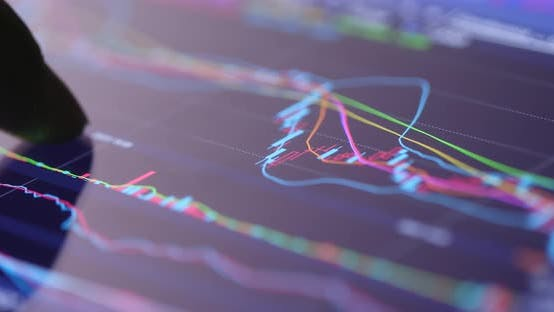 Thumbnail for Stock stock graph on display screen