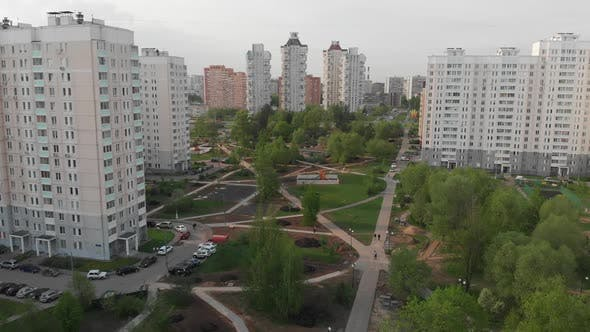 The Cityscape in Moscow From Above, Russia