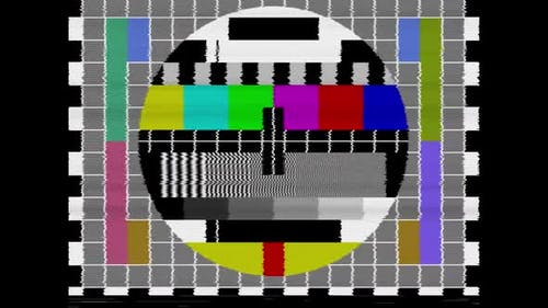 TV Broadcast Signal Test Card / Test Pattern with Sine Wave Test Signal Tone