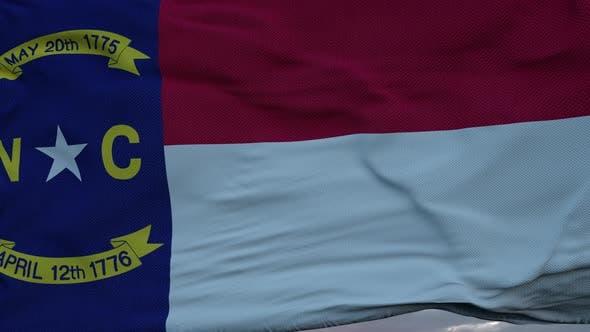 Flag of North Carolina Video Waving in Wind