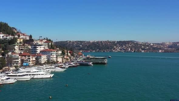 Cover Image for Istanbul Bebek Bosphorus Bridge Rumeli Fortress Aerial View
