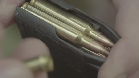 Thumbnail for Cartridges Charge. Close-up. Slow Motion