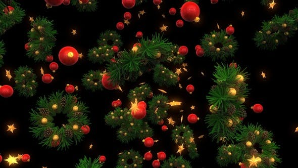 Thumbnail for Christmas Decorations Background
