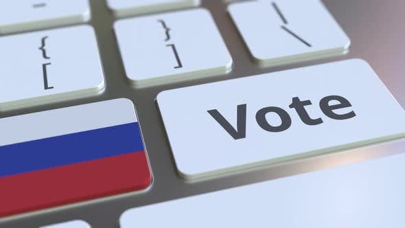 Thumbnail for VOTE Text and Flag of Russia on the Keyboard