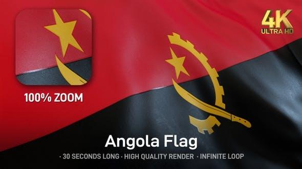 Thumbnail for Angola-Flagge - 4K