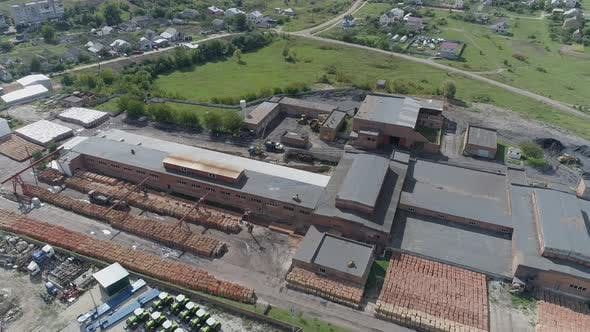 Thumbnail for Aerial shot of a brick factory