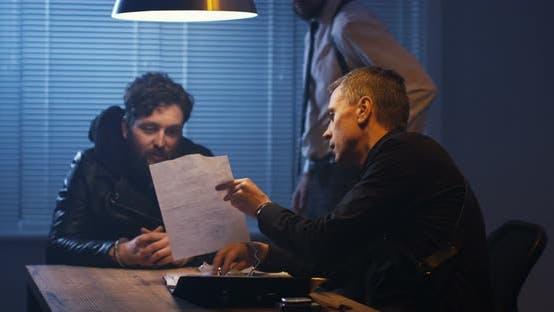 Thumbnail for Policemen Interrogating a Drug Dealer