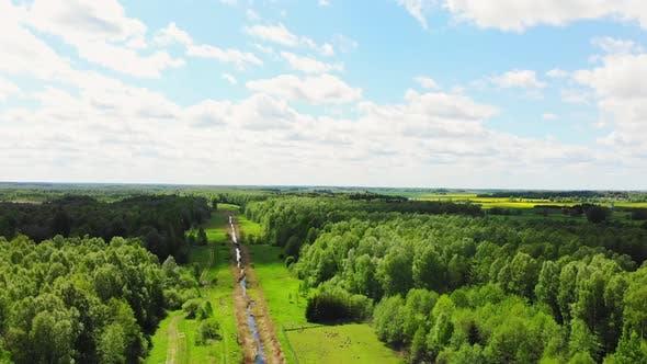 Lithuania Countryside Panorama